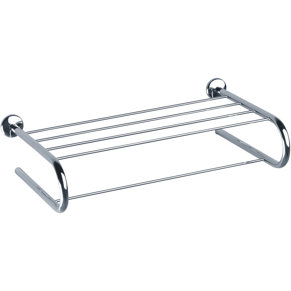 Towel rack, 113 x 300 x 550 mm, Chrome and nickel-plated Brass, Steel ...