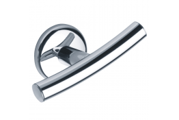 LOFT - Double robe hook, Chrome and nickel-plated Brass