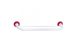 TRIOLO - Porte-serviettes 2 barres fixes, Blanc & Rouge