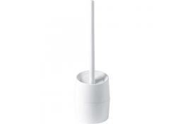 Toilet brush & holder, White ABS
