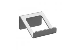 Kleerhaak 1 kop, 72 x 70 x 40 mm, Aluminium, Epoxy, Grijs