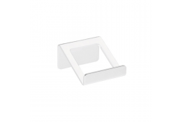 Kleerhaak 1 kop, 72 x 70 x 40 mm, Aluminium, Epoxy, Wit