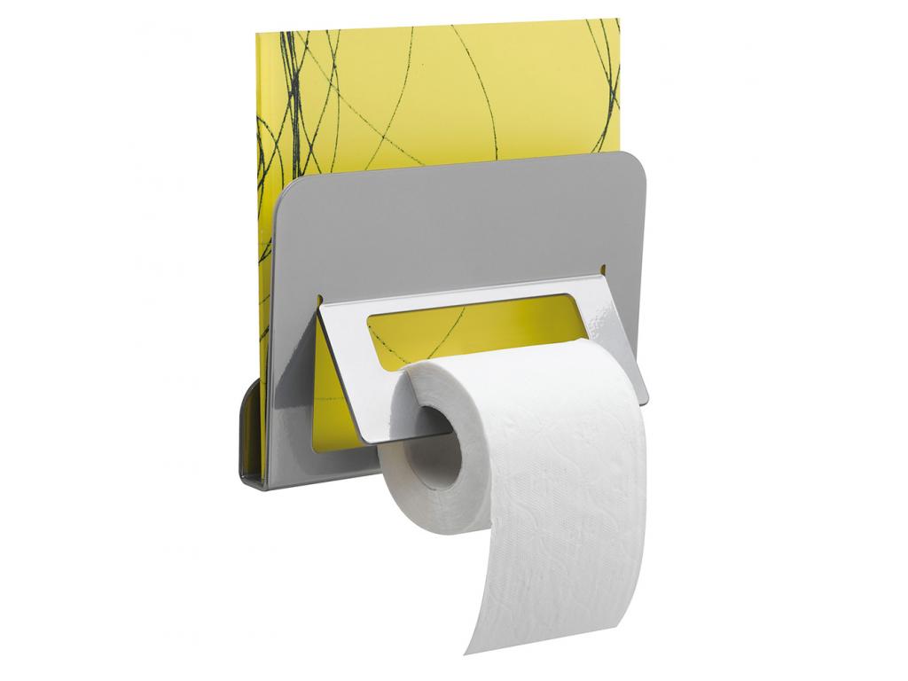distributeur papier wc et porte revue 70 x 230 x 153 mm aluminium epoxy gris. Black Bedroom Furniture Sets. Home Design Ideas