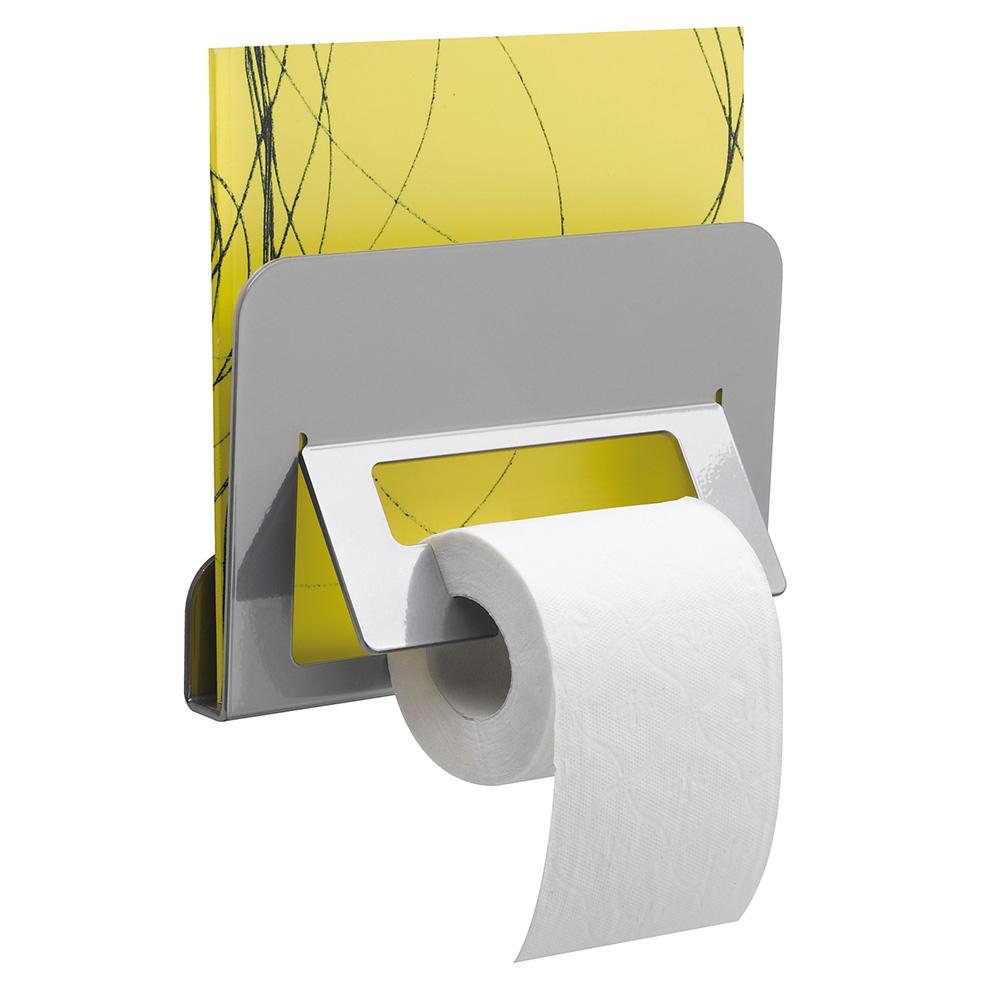 trinium distributeur papier wc et porte revue gris mat. Black Bedroom Furniture Sets. Home Design Ideas