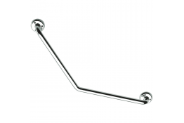 135° angled grab bar, 400 x 400 mm, Chrome and nickel-plated Brass, tube Ø 25 mm
