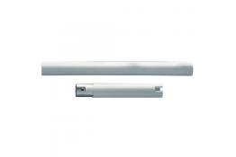 Straight section, 160 mm, White Polyalu, tube Ø 33 mm