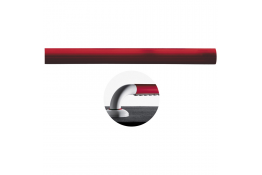 Longueur droite Ergosoft, 160 mm, Polyalu, Blanc & Rouge
