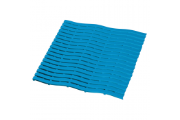 Shower mat, 590 x 580 x 9 mm, Blue Polyethylene
