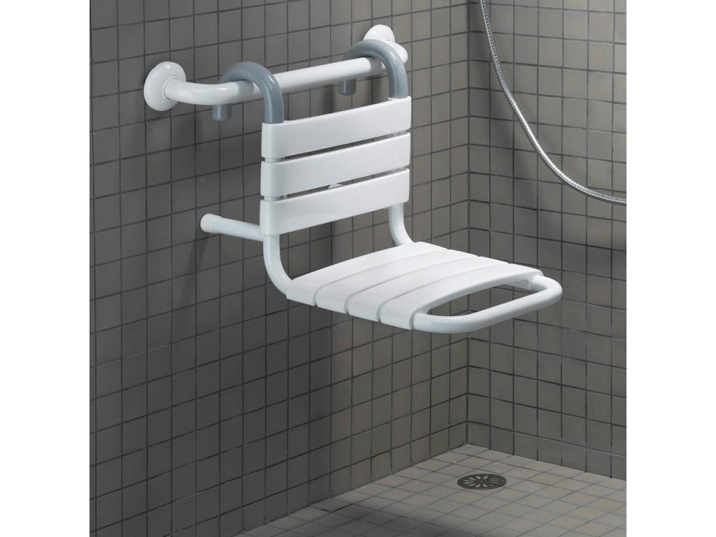 Si ge de douche suspendre blanc - Siege salle de bain ...