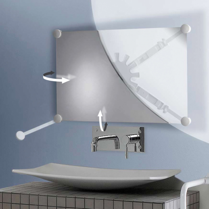 Support miroir orientable blanc for Disque en miroir