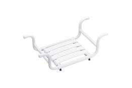Bath seat, 335 x 705 x 110 mm, White Epoxy-coated Aluminium, tube Ø 30 mm