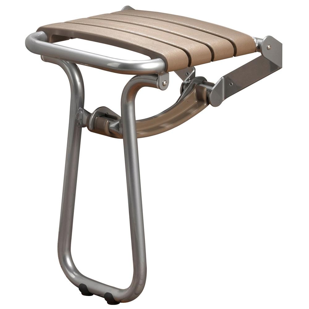 si ge de douche taupe gris chrome hauteur 550 mm. Black Bedroom Furniture Sets. Home Design Ideas