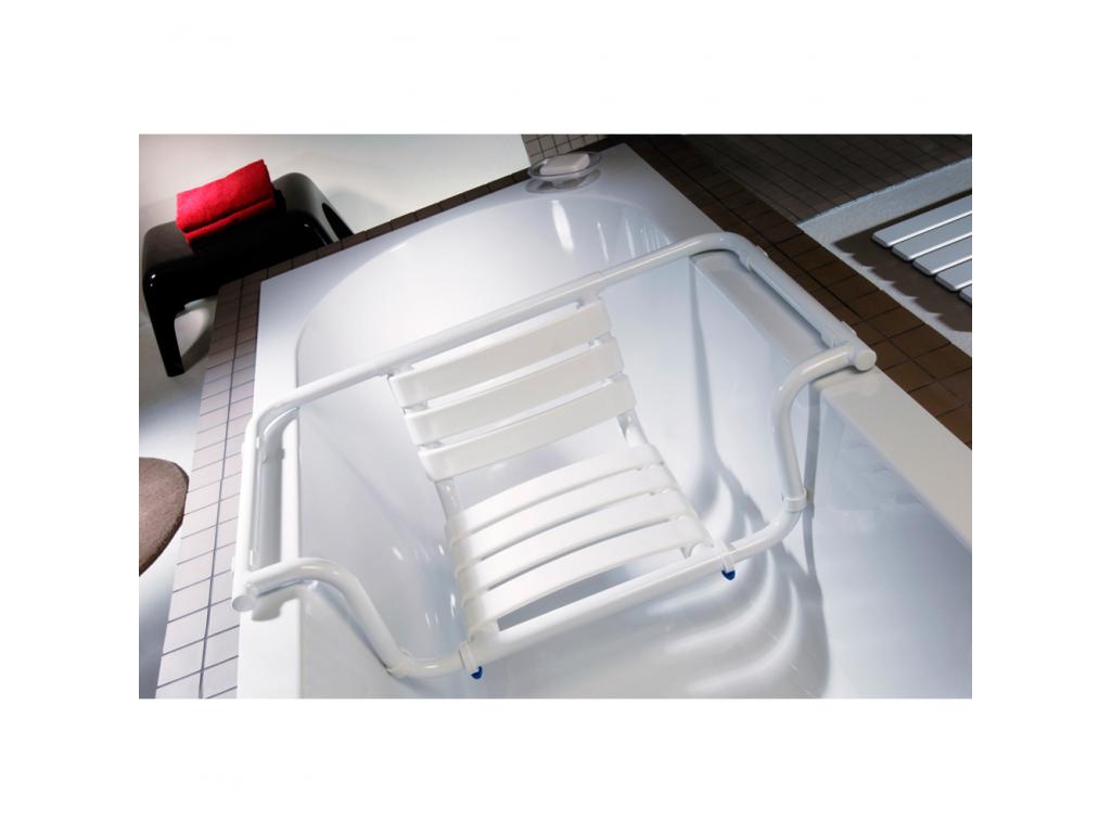 Seggiolino vasca, 420 x 890 x 260 mm, Tubo Ø 30 mm, Alluminio Epossidico, Bianco