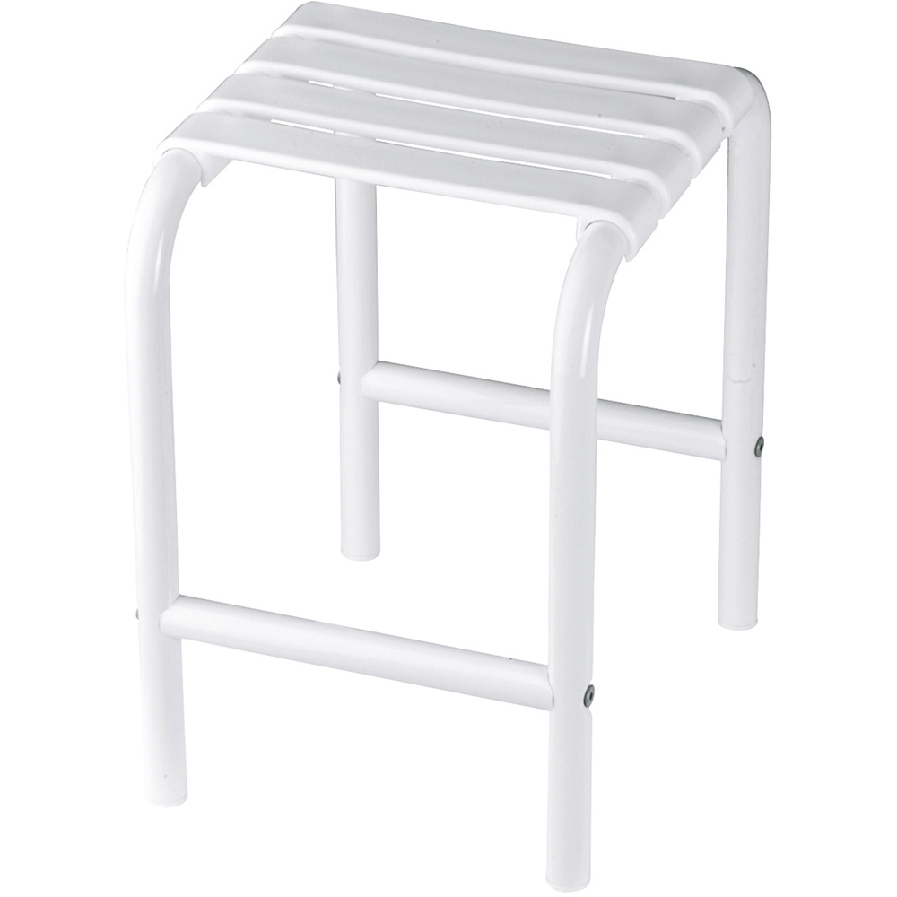 tabouret de douche blanc. Black Bedroom Furniture Sets. Home Design Ideas
