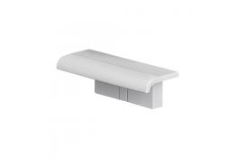 Tablette de douche déclipsable et interchangeable Arsis, à clipser, Blanc