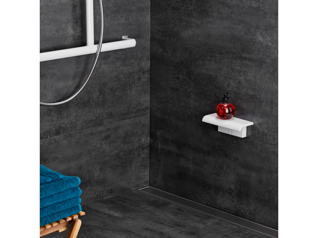 tablette de douche arsis clipser blanc. Black Bedroom Furniture Sets. Home Design Ideas