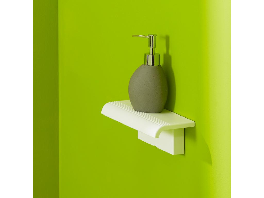 tablette de douche arsis fixer blanc. Black Bedroom Furniture Sets. Home Design Ideas