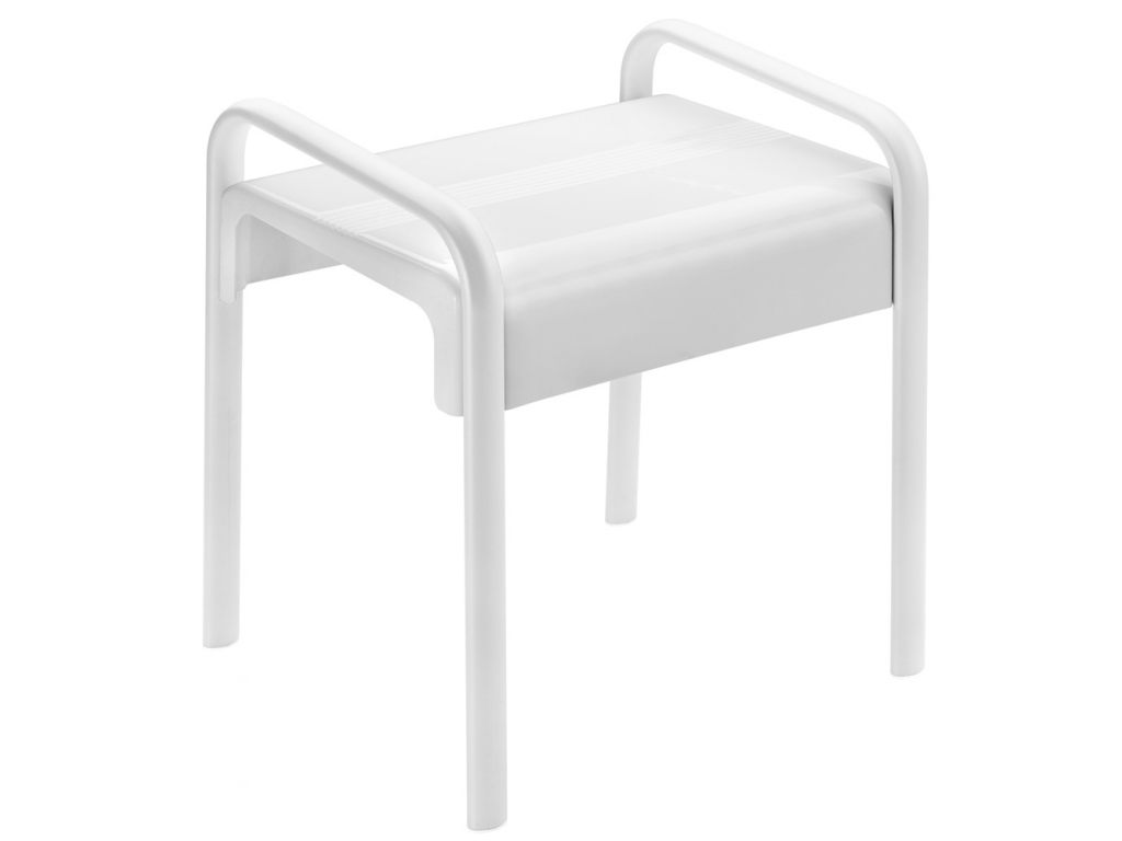 tabouret de douche arsis blanc. Black Bedroom Furniture Sets. Home Design Ideas