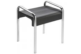 Tabouret de douche Arsis®, 461 x 526 x 580 mm, Assise ABS Gris anthracite & Pieds Aluminium Chromé, 38 x 25 mm