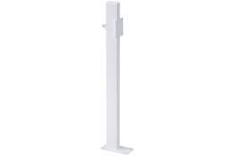 Free standing fixing pole for hinged bar, 200 x 100 x 970 mm, White Epoxy-coated Steel