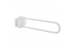 ARSIS hinged bar, 770 x 109 x 182 mm, White Epoxy-coated Aluminium, tube 38 x 25 mm