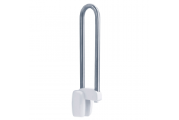 Hinged bar, 770 mm, Brushed Stainless steel, tube Ø 30 mm