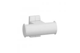 Kleerhaak 2 kopen, Wit Epoxy Aluminium, Wit Epoxy bevestigingsrozetten, tube 38 x 25 mm