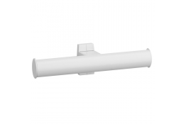 Toiletpapierhouder, Wit Epoxy Aluminium, Wit Epoxy bevestigingsrozetten, tube 38 x 25 mm