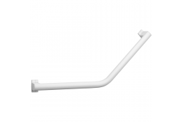 ARSIS 135° angled grab bar, 400 x 400 mm, White Epoxy-coated Aluminium