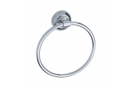 Towel ring, Chrome and nickel-plated Brass, tube Ø 12 et 25 mm