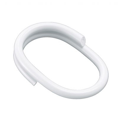 shower curtain rings 52 x 36 mm white reinforced plastic
