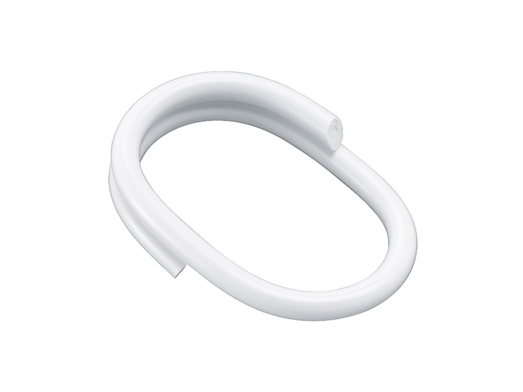 Shower Curtain Rings 52 X 36 Mm White Reinforced Plastic