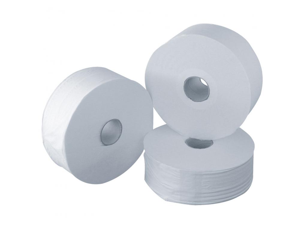 Papier toilette rouleau 350 m ouate blanc 240 mm - Distributeur rouleau papier toilette ...