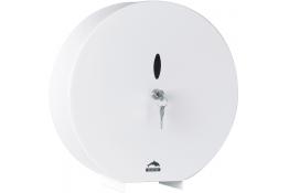 """Distributeur papier WC """"Géant"""", Acier Epoxy Blanc, Ø 311 mm"""