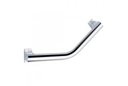 Barre coudée 135° Arsis®, 424 x 224 mm, Aluminium Chromé, Ø 38 x 25 mm, cache-fixations Chromé