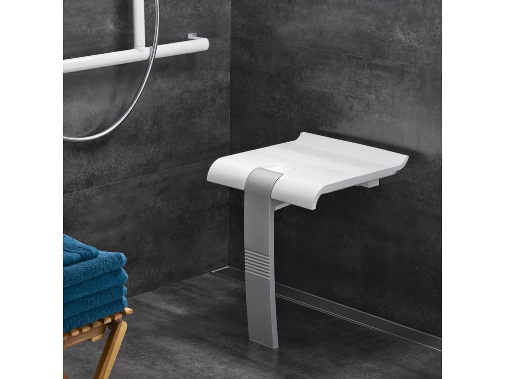 si ge de douche arsis blanc gris mat. Black Bedroom Furniture Sets. Home Design Ideas