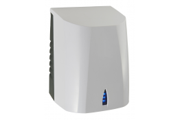 Exp'air pulsed air hand dryer, 430 x 343 x 232 mm. , White & Black Epoxy-coated Aluminium