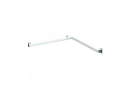 Barre d'angle 2 murs Arsis®, Aluminium Epoxy Blanc et Chromé