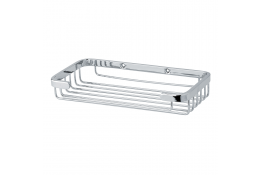 Soap basket, 198 x 100 mm, Chrome and nickel-plated Brass