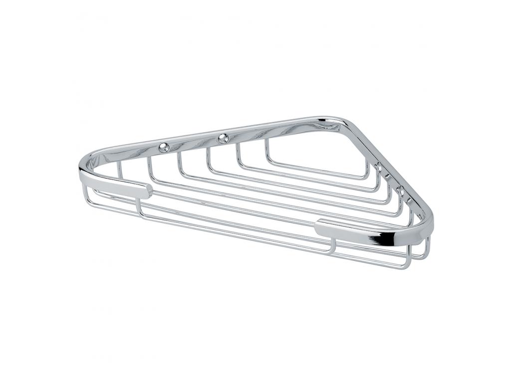 Classique porte savon fil d 39 angle laiton chrom for Porte savon d angle
