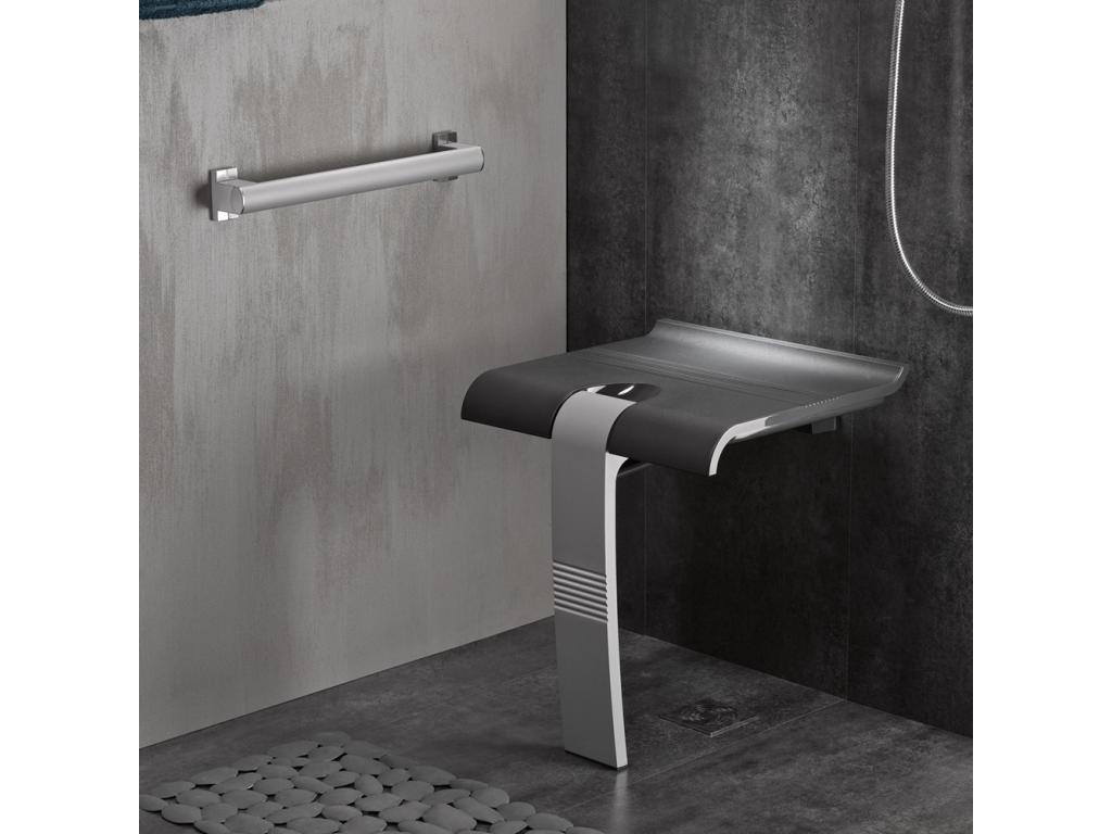 Si ge de douche arsis gris anthracite gris mat - Siege pour douche italienne ...