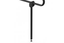 Muleta de apoyo, 50 x 625 mm, Aluminio, Epoxi, Gris antracita, 38x25 mm