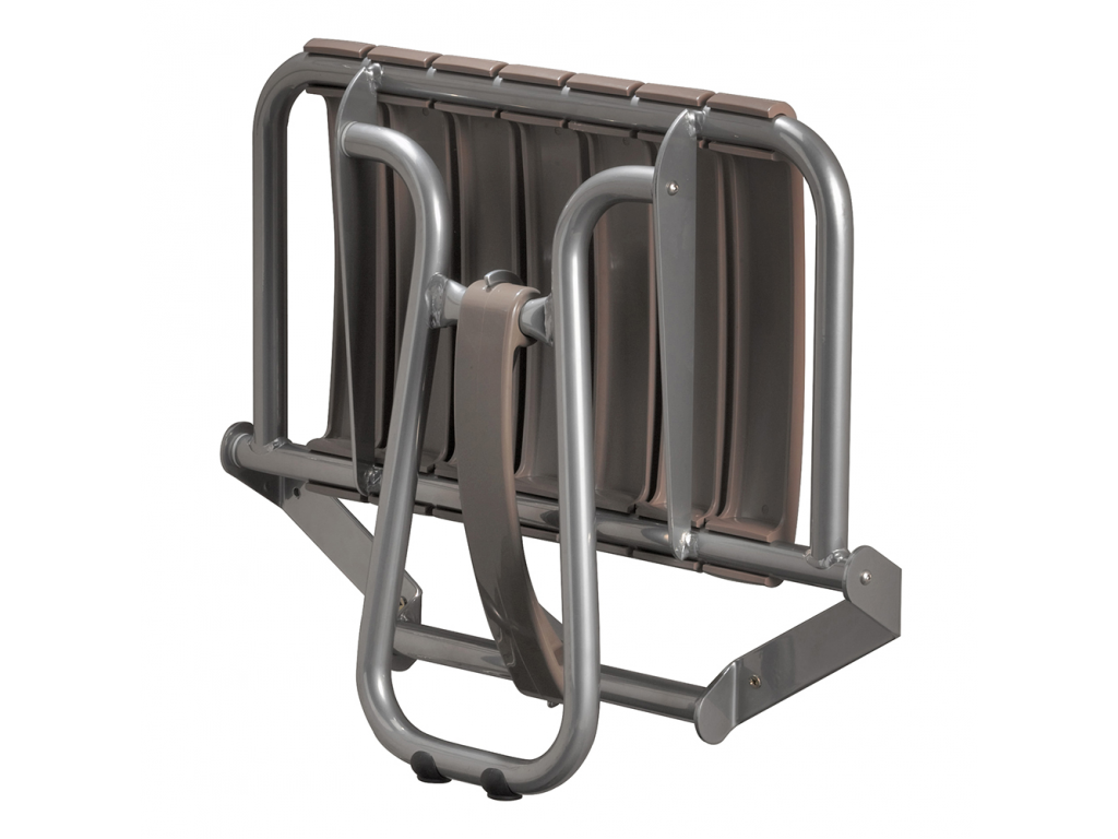 Fold-away shower seat, 360 x 580 x 450 mm, Taupe ...