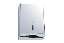Papieren handdoekjesdispenser, 365 x 270 x 110 mm, Roestvrij staal, Glanzend gepolijst