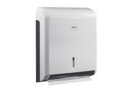Papieren handdoekjesdispenser, 340 x 265 x 110 mm, ABS, Wit en Blauw