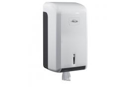 Papieren handdoekjesdispenser, 275 x 145 x 135 mm, ABS, Wit en grijs