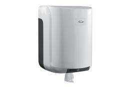Papieren handdoekjesdispenser, 310 x 220 x 220 mm, ABS, Wit en grijs