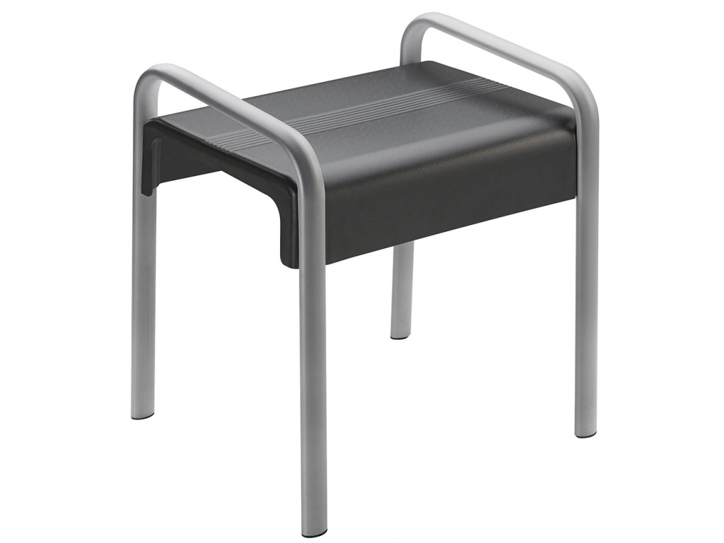 tabouret de douche arsis gris anthracite gris mat. Black Bedroom Furniture Sets. Home Design Ideas