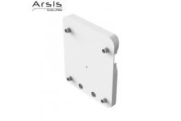 Plate adaptor for rail, white