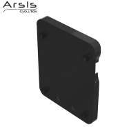 Plate adaptor for rail, anthracite grey